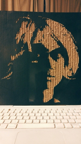 The Inspector Disguised as Pris(Small cardboard relief)