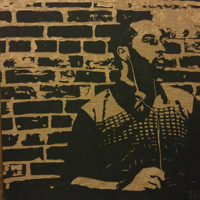 Portrait of the Singer (4' X 4' Cardboard Relief) $200