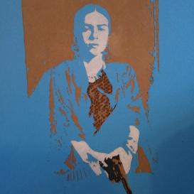 Frida (Small cardboard relief) SOLD