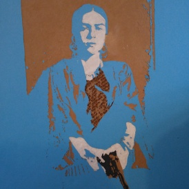 Frida (Small cardboard relief) SOLD
