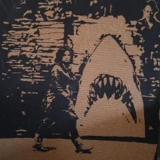 Sarah and Shark (4' X 4' cardboard Relief) $200