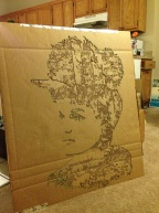Belle Brezing. Cut cardboard