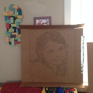 Emaline. Cut cardboard