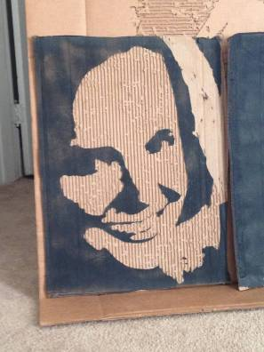Rhett's Mommy. (Small cardboard relief)(SOLD)
