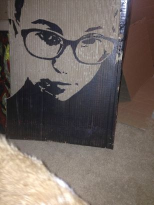 Esme. Cut cardboard and acrylic