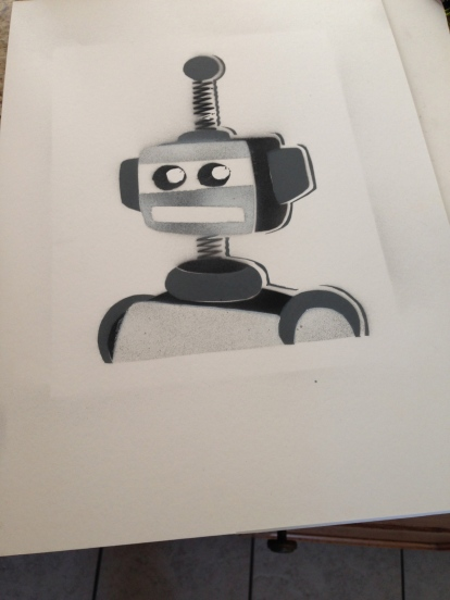 Happy Robot. (Screen Print) $15