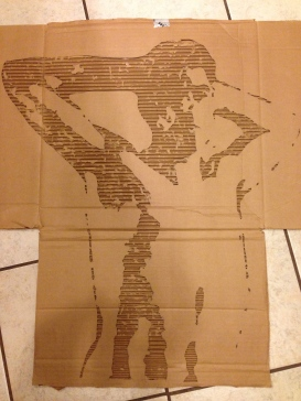 Narcissistic self-portrait. (Small cardboard relief)