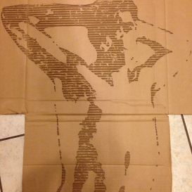 Narcissistic self-portrait. (Small cardboard relief)
