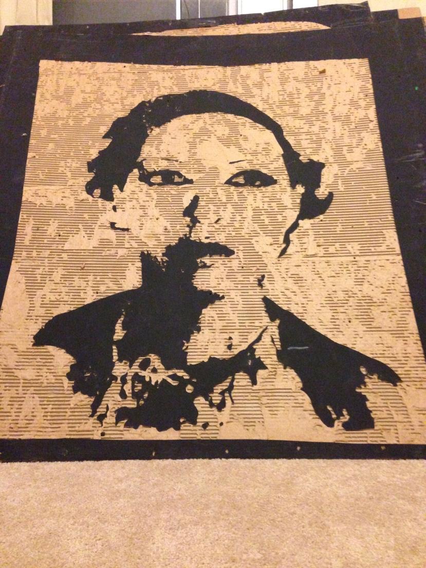 Josephine Baker. (4' X 4' cardboard relief) $200